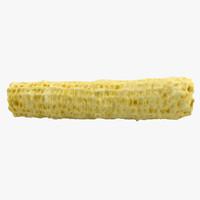 3d realistic corn cob