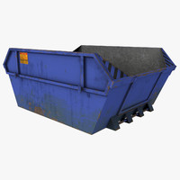 dumpster red 3d max