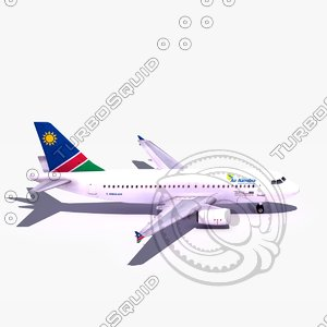 3d model airbus a319 air namibia
