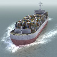 Large Container Ship LW