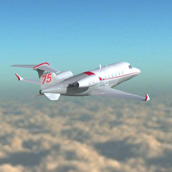 3d private jet model