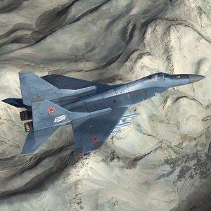 russian navy mig29k fulcrum 3d max