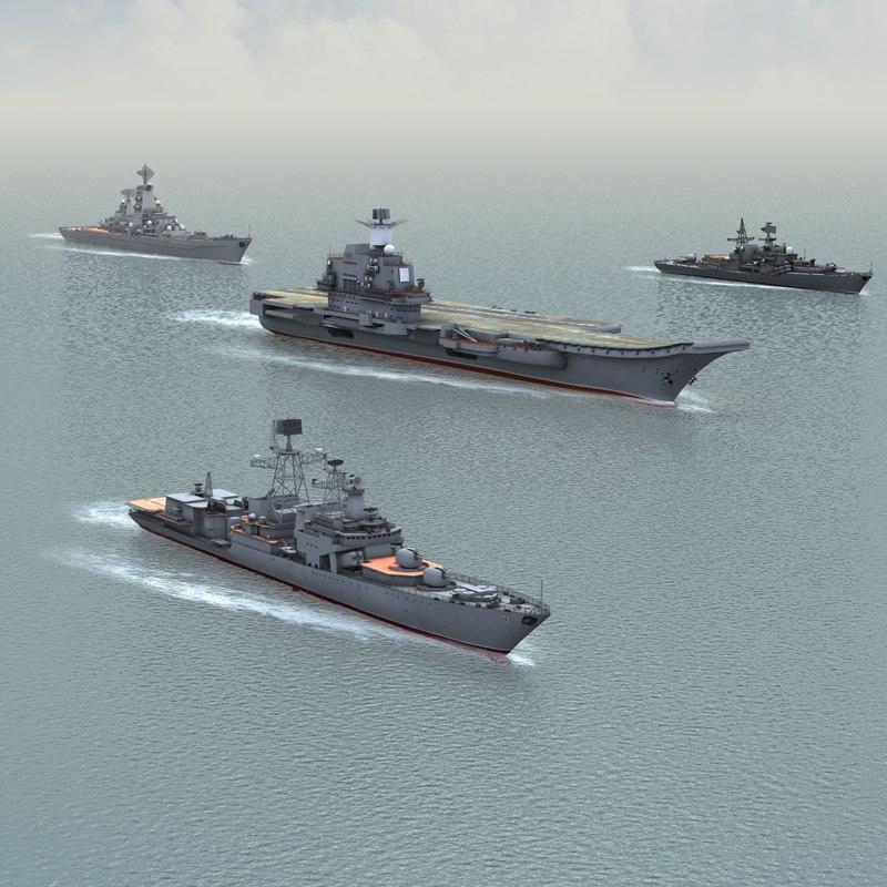 ships russian navy kuznetsov 3d 3ds