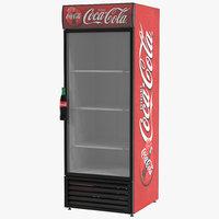 3d refrigerator coca cola