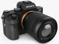 sony alpha 7 ii 3d model