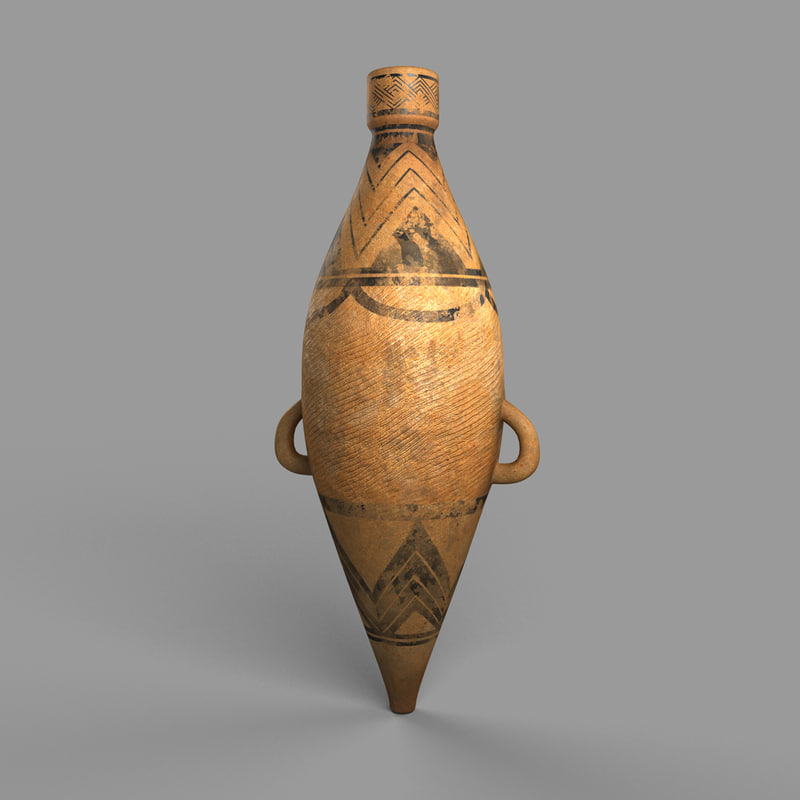 terracotta bottle 3d max