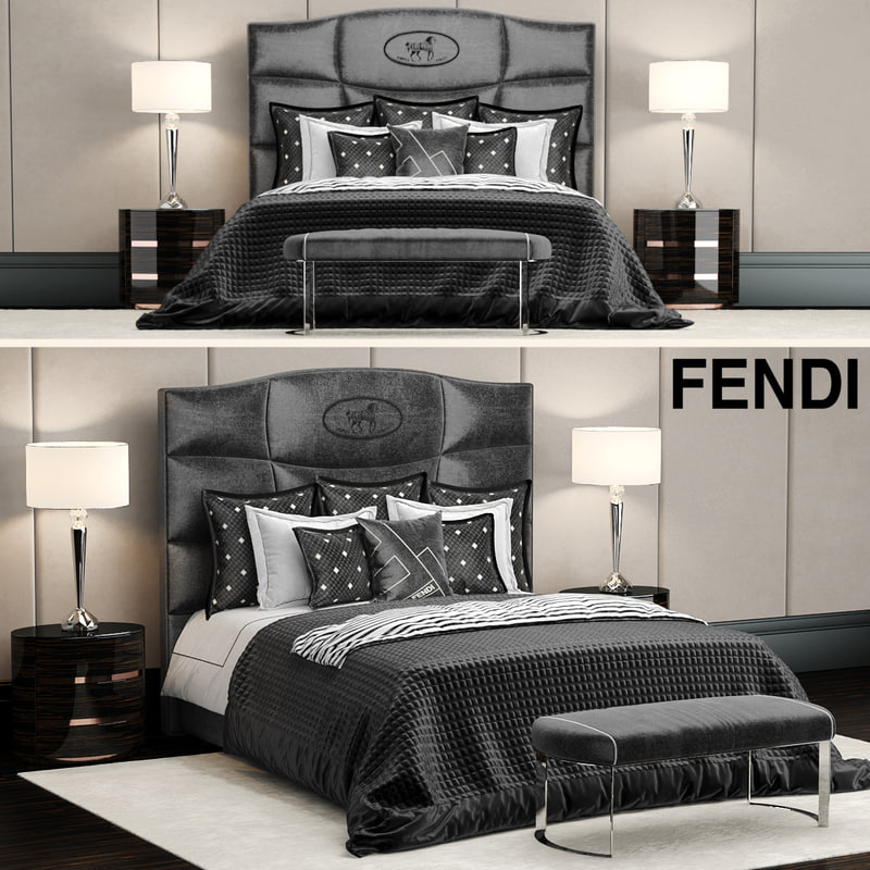 fendi george bed 3d model