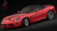 3d dodge viper srt-10 2003 model