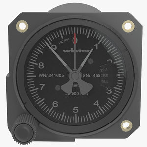 3ds max altimeter modeled realistic