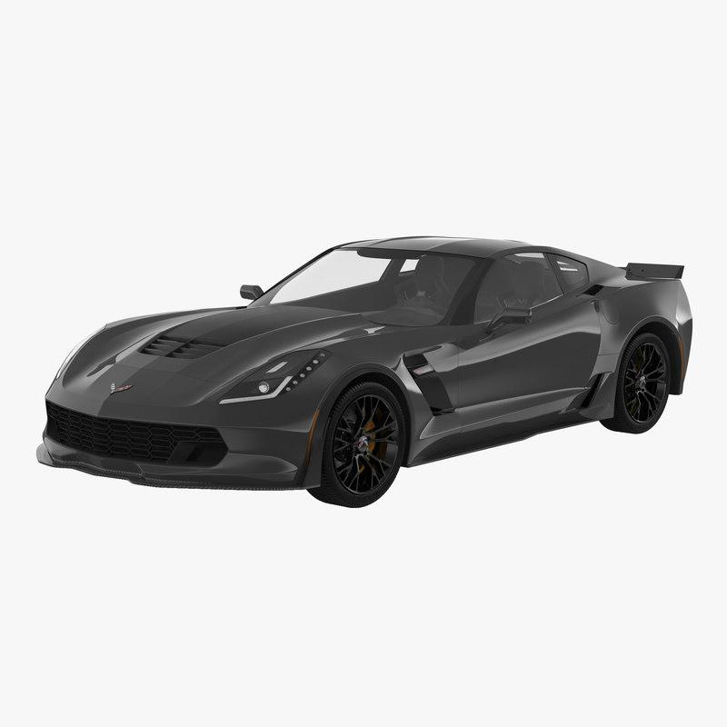 3d 3ds chevrolet corvette 2015 simple