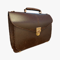 male leather bag 3d max