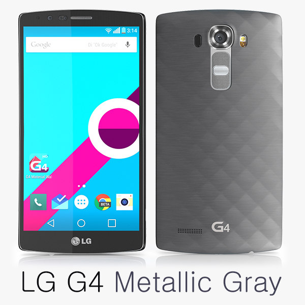 3d model of lg g4 metallic gray