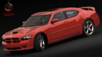 3d dodge charger srt-8 2006 model