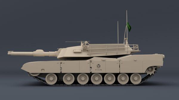 3d m1 abrams model
