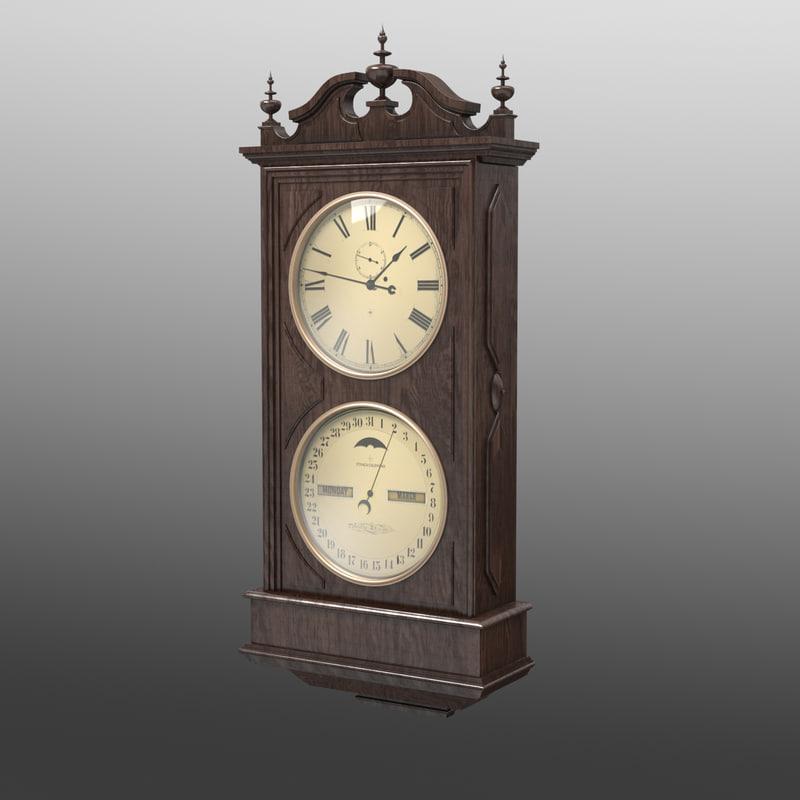wall clock 3d obj