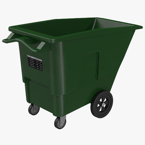 3ds max large rolling garbage green