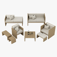 3d model outdoor lounge set