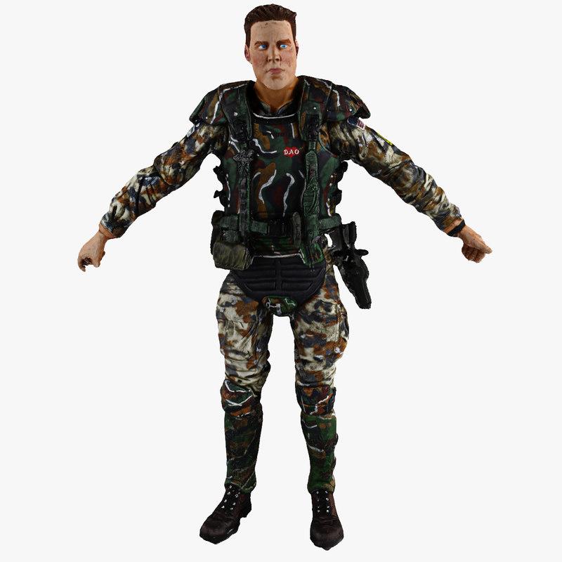 realistic soldier 3d model