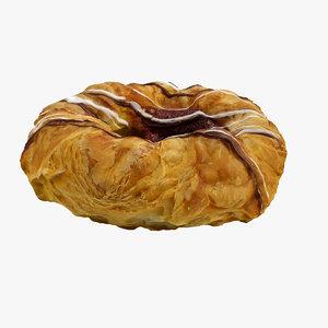 3d model realistic danish pastry