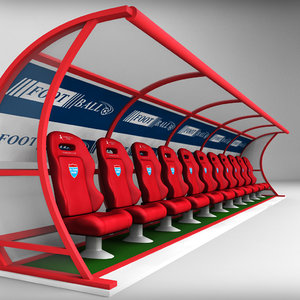 stadium seating reserve bench 3d 3ds