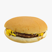 3d model realistic cheese burger