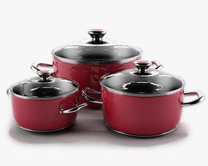 set raspberry pans 3d c4d