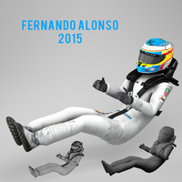 3d fernando alonso 2015 model