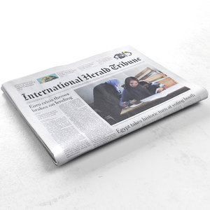3d international herald tribune newspaper model