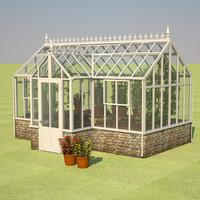 3d model greenhouse