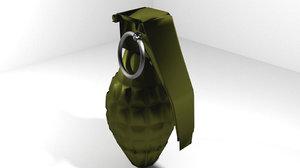 hand grenade fragmentation 3d model