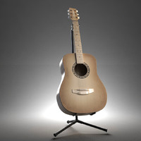 3d model of acoustic guitar