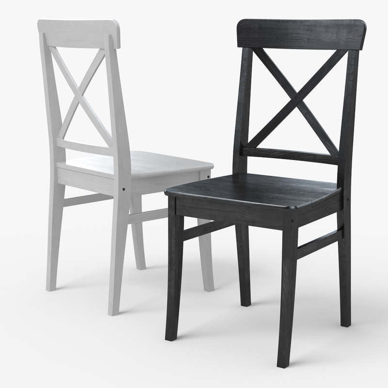 ingolf ikea dining chair 3d model