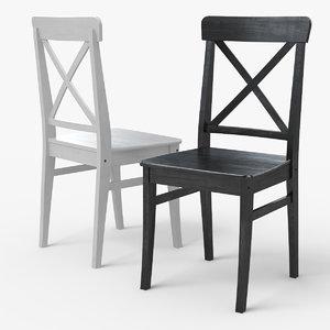 ingolf ikea dining chair 3d model