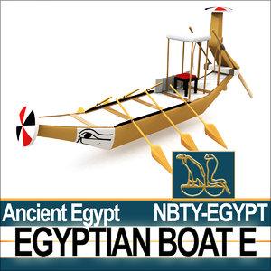 3dsmax ancient egypt boat e