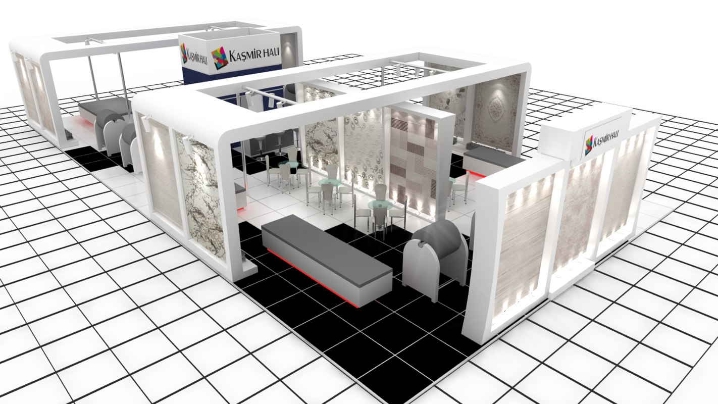 kasmir hali exhibition design 3d model
