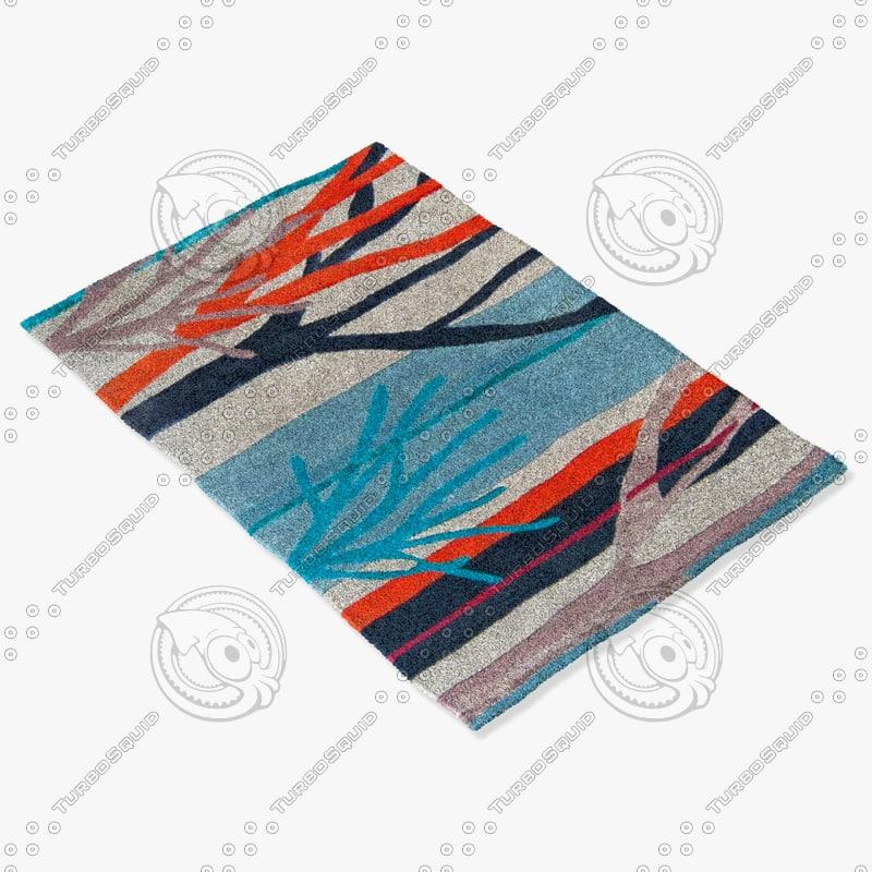 3d roche bobois rug foret