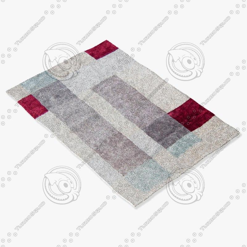 roche bobois rug design 3d 3ds