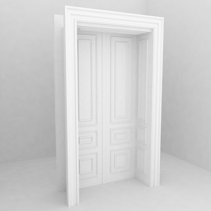 3d model building architecture door