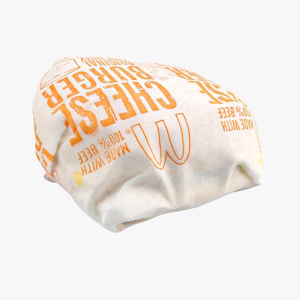 rhino wrapped cheese burger
