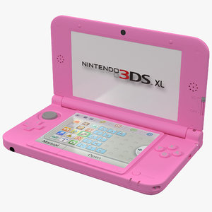 nintendo xl pink 3d model