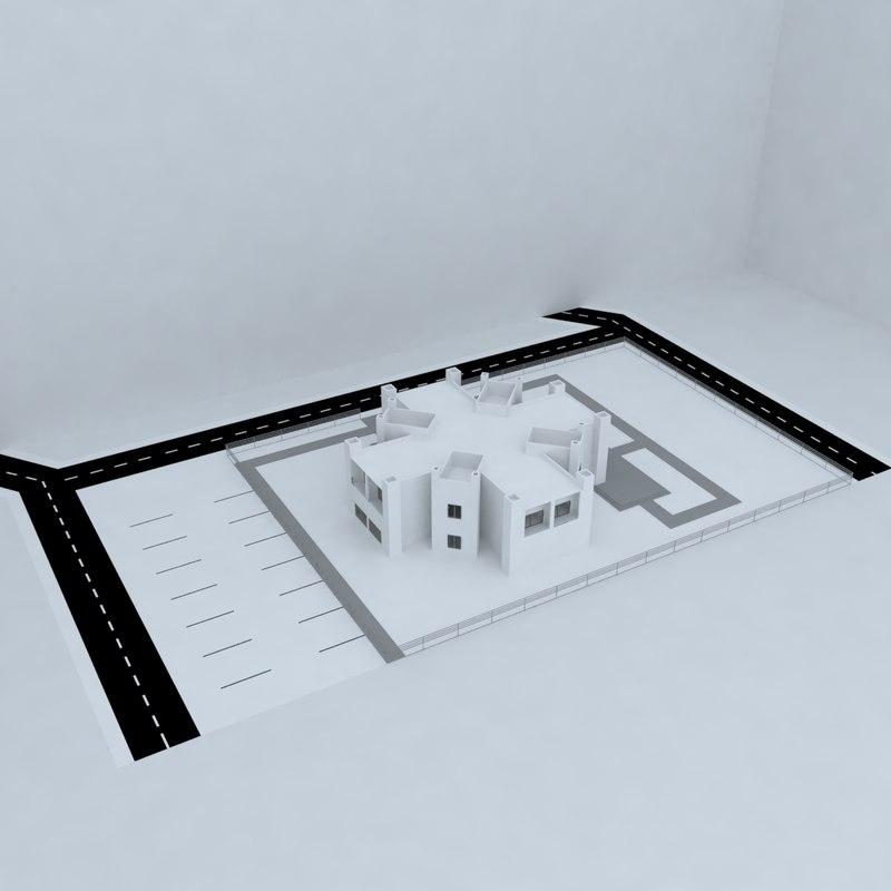 3d model conference complex