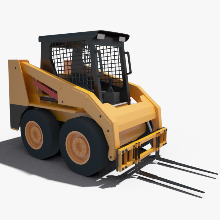 3ds max cat 236b fork lift