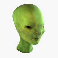 maya alien head