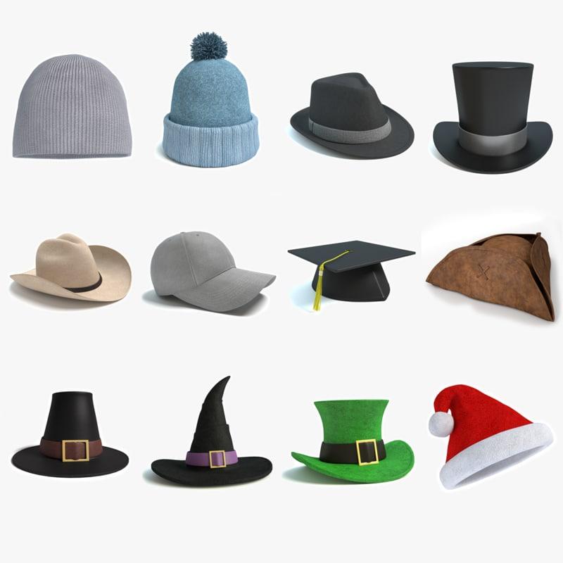 3d 3ds hats beanie winter