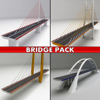pack suspended bridges 3d model