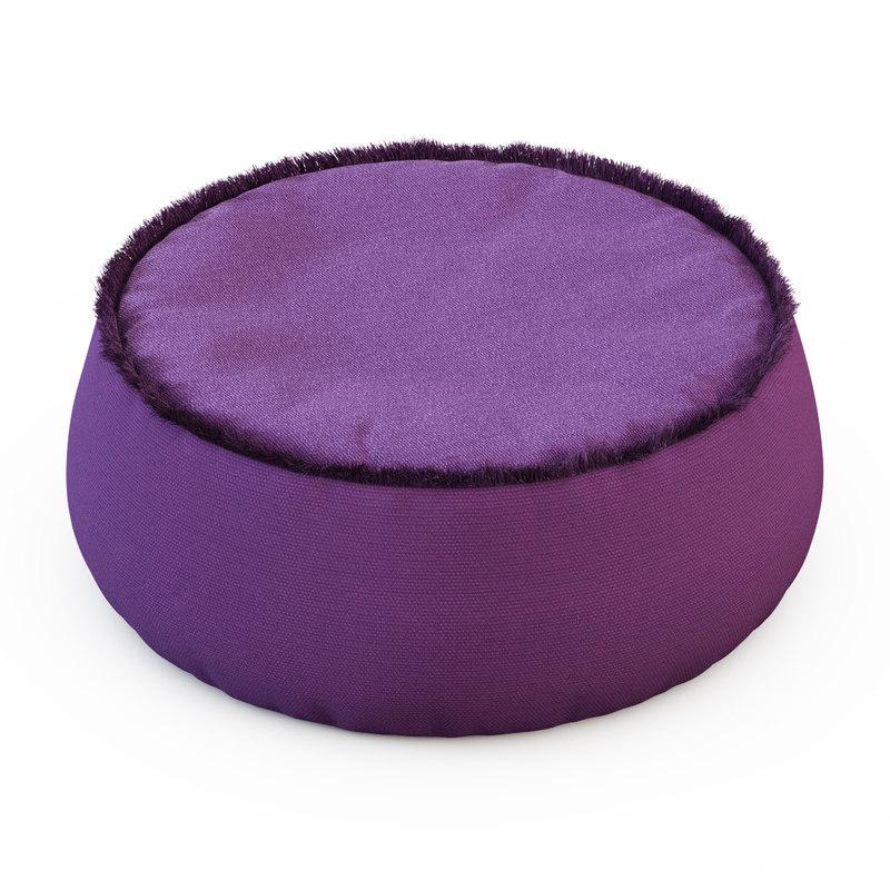 pouf play 3d model