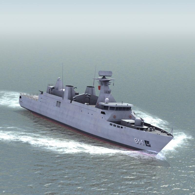 sultan moulay ismail corvette 3d 3ds