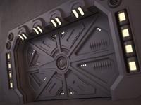 sci-fi door 02 max