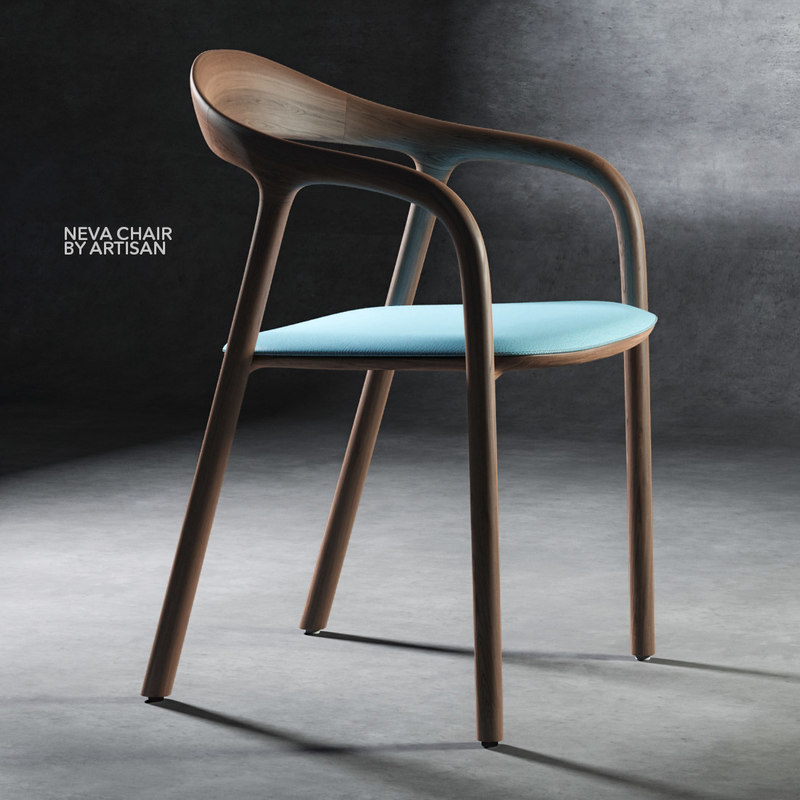 3d model chair neva artisan