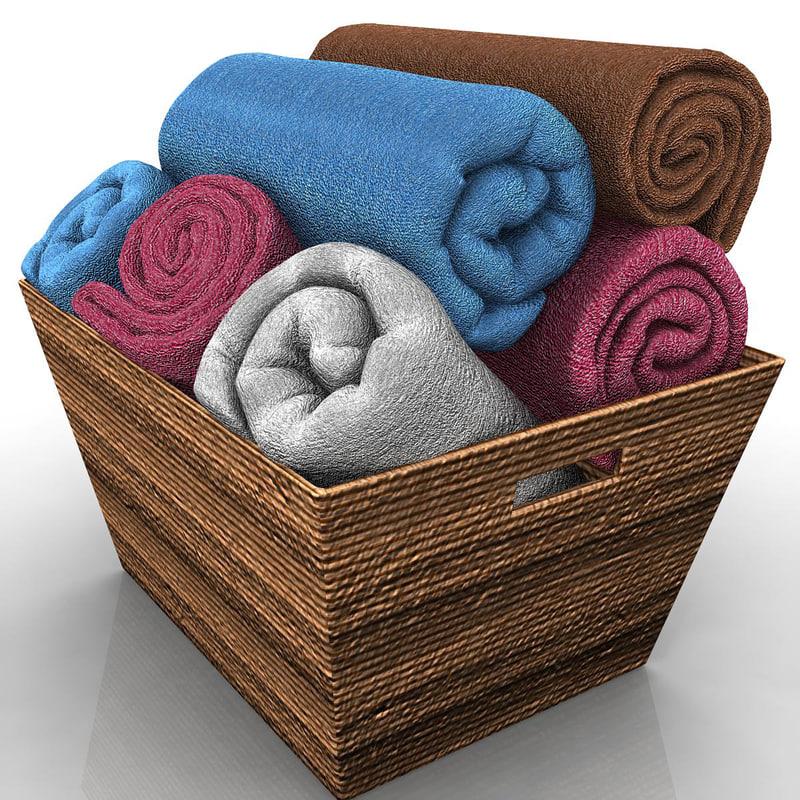 3d model of towels